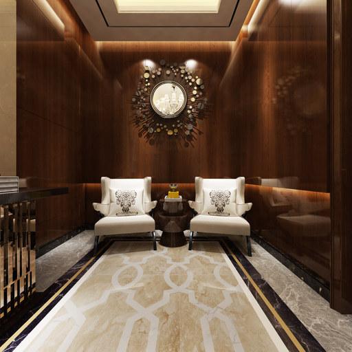 欧式客厅VR看房全景效果图设计